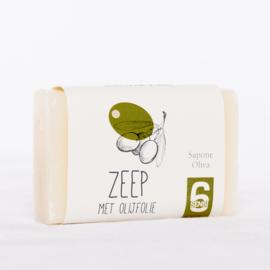 100 gram zeep met olijfolie (papieren wikkel)
