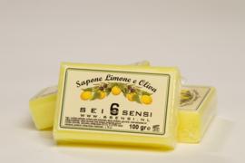 100 gram zeep met olijfolie en citroen