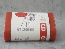 Plantaardige zeep met Sandelhout 125 gram