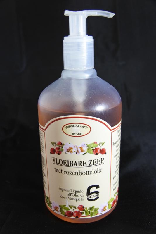 Vloeibare zeep met rozenbottelolie (500 ml)