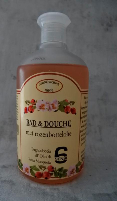 Bad & Douche met rozenbottelolie (500 ml)
