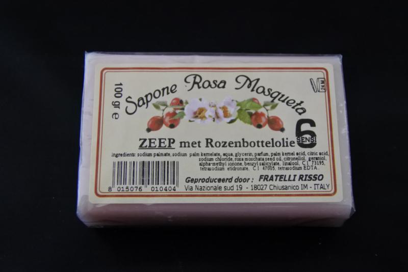 100 gram zeep met rozenbottelolie
