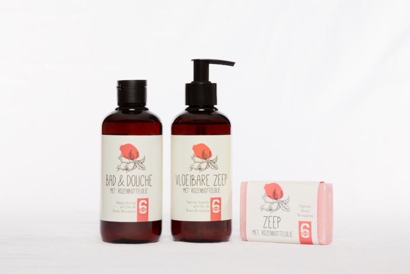 NIEUW: Badlijn met rozenbottelolie (250 ml)