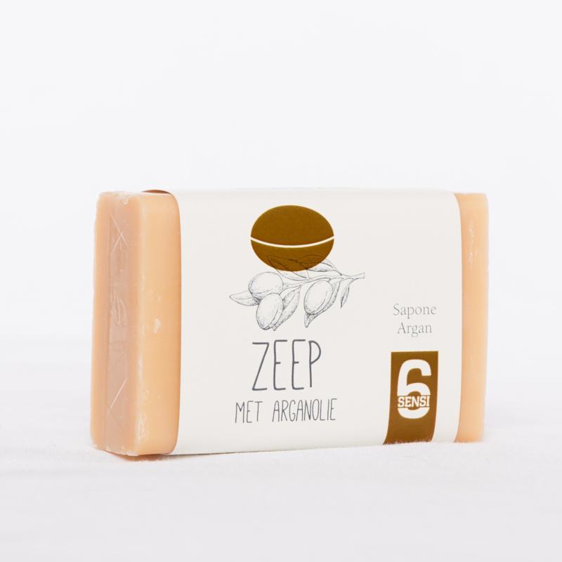 100 gram zeep met arganolie (papieren wikkel)