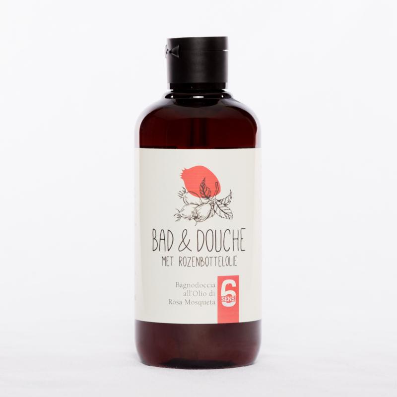 Bad & Douche met rozenbottelolie (250 ml)