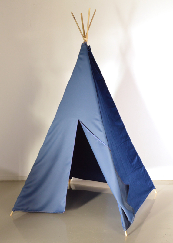 Tipi tent donkerblauw