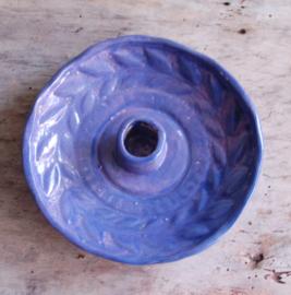 Blauw/ paarse kaarsenstandaard