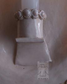 Wit kaardenbord met parelrand