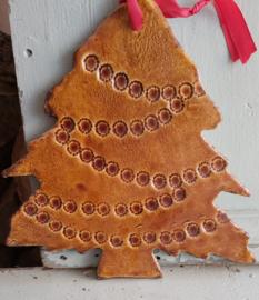 Kerstboom in honinggeel