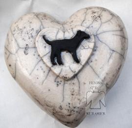 Urn voor de hond in hartvorm