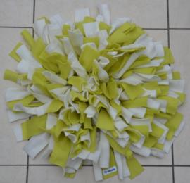Snuffelmat rond beige - lichtgroen
