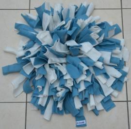 Snuffelmat blauw - wit