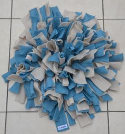 Snuffelmat blauw - beige