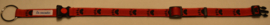 Halsband Rood met grote zwarte pootjes
