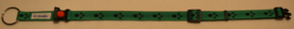 Halsband Groen met zwarte pootjes
