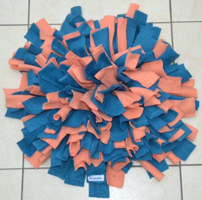 Snuffelmat blauw - oranje