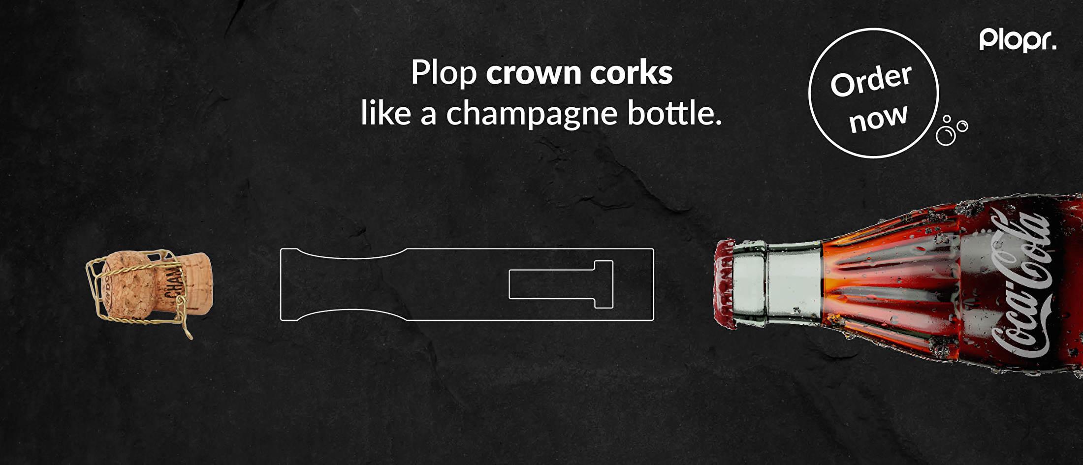 Plop krookkurken zoals een champagnekurk