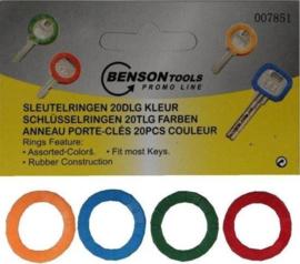 Sleutelringen - 20 delig - kleur