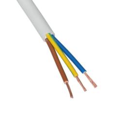 Stroom kabel wit 3 X 1  rond P/M