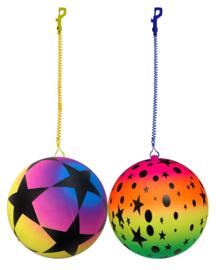 Keychain Ball Rainbow with Stars 22 cm