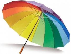 Regenboog Paraplu Golf 130 Cm / 16 Banen