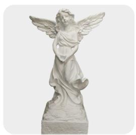 Engel  op voet beeld groot 80cm