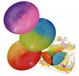 Frisbee dicht 27cm. Glitter