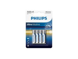 Phillips ultra alkaline - LR03 AAA batterij - 4 stuks