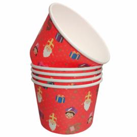 Sinterklaas - Snackbakjes 5 stuks  - Karton - 550ml
