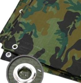 Dekzeil camouflage 1.5x6 Meter zwaar