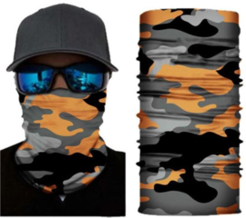 Neck Gaiter Orange camo