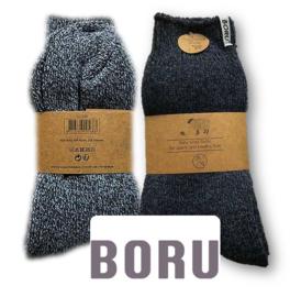 Boru Sokken Wol 43 - 45 Blauw Mix 2 Paar