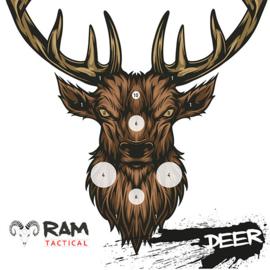 Deer schietkaarten 14x14 50 stuks