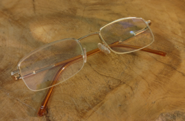 Leesbril goud-tint-veerpoot Luxe