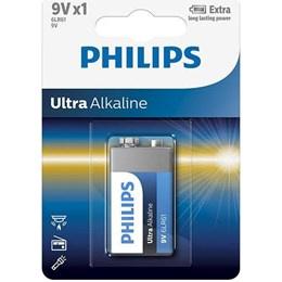 Phillips ultra alkaline - 6LR61 9 V batterij - 1 stuk
