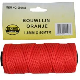 Touw Bouwlijn Oranje 1.8 X 50 meter