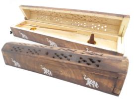 Wierookhouder kistje hout