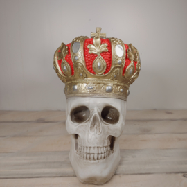 Schedel met kroon - Beeld