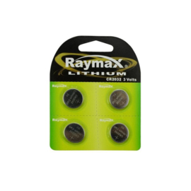 Raymax knoopcel batterij -  CR2032 -  4 stuks
