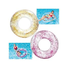 Intex Transparant Glitter Tube zwemband 119cm