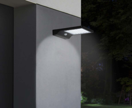 Hofftech Solar lamp - 36 heldere LED-lampen - Waterbestendig - IP44 - Zwart