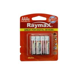 AAA Batterijen - LR03 - Alkaline - 8 Stuks Raymax