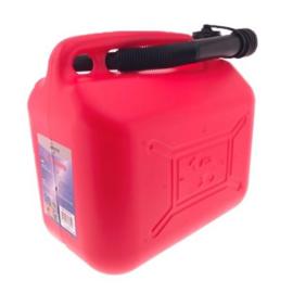 Jerrycan 10 liter met vloeistofmeter rood