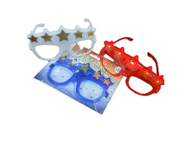 Led bril met sterren Rood -Wit - Blauw