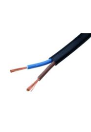 Stroom kabel zwart 2 X 0.75  rond P/M