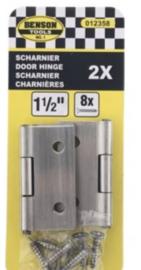 """Scharnier 2 delig 1.5"""" RVS"""