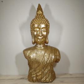 Boeddha Beeld staand  punt goud 73 CM