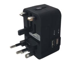 Universele Reisstekker - Compacte Adapter Voor Alle Stopcontacten Ter Wereld!