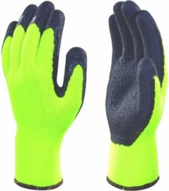 Hofftech Winterhandschoenen Latex XL / Maat 10 Grip Gebreide Neon-Geel