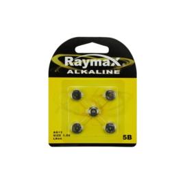 Raymax knoopcel batterij - LR44 batterij - 5 stuks